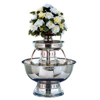 apex-4003-ss-princess-5-gallon-ss-beverage-fountain-with-silver-bow-tie-trim-floral-cup